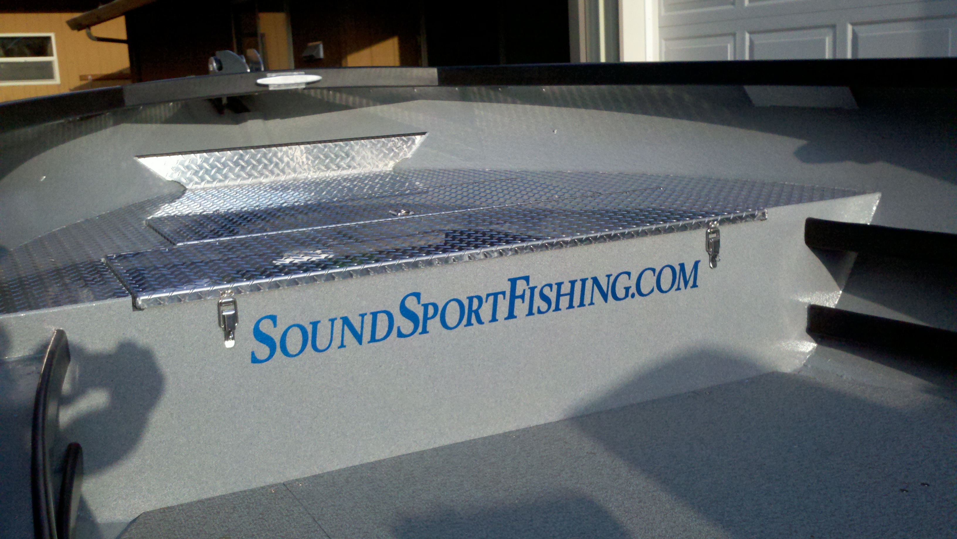 SoundSportFishing.com Boat With Marine Barrier